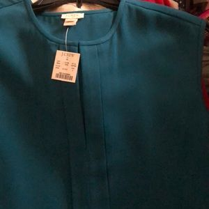 J CREW TEAL BLOUSE